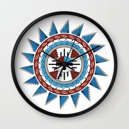 Southwest Native American Art Mandala Wall Clock