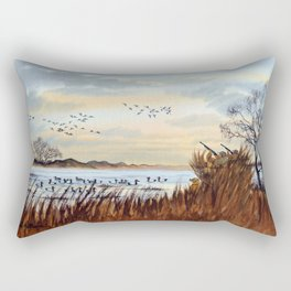Duck Hunting Season Begins For The Canvasback Rectangular Pillow