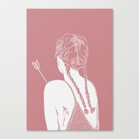 arrow Canvas Prints featuring Arrow by k ei t
