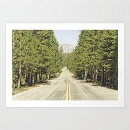 Sierra Nevada Highway Art Print