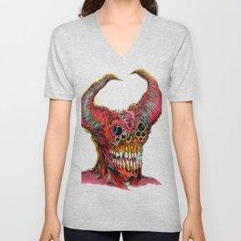 Demon Head Unisex V-Neck