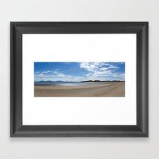 Llanddwyn panoramic Framed Art Print