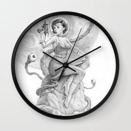 Astro Babe B&W Wall Clock