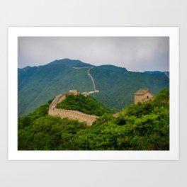 Great Wall Of China. Art Print