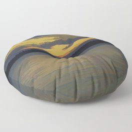 Sunset with Digital Modification Floor Pillow