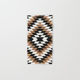 Urban Tribal Pattern No.13 - Aztec - Concrete and Wood Hand & Bath Towel