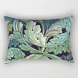 William Morris Herbaceous Italian Laurel Acanthus Textile Floral Leaf Print  Rectangular Pillow