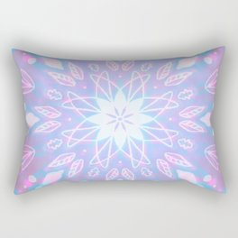 Purple, Teal, White Aura Mandala Rectangular Pillow