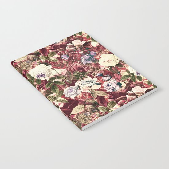 Abstract floral pattern Notebook