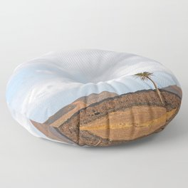 Lanzarote Palm tree landscape Floor Pillow