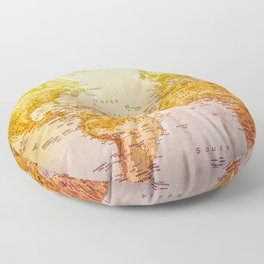 Colorful World Floor Pillow