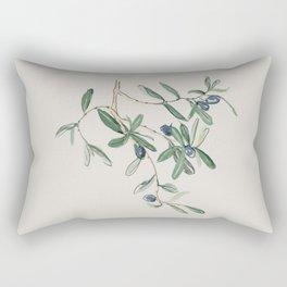 Olea Europaea - Black Olive Rectangular Pillow