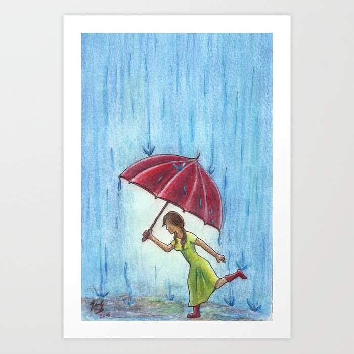 Caught in the Storm Art Print