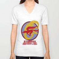 starfox V-neck T-shirts featuring Mercenary Unit - Starfox by TomStreetArt
