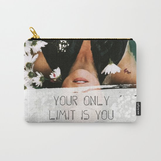 Your Only Limit Is You - Girl Boss Motivational Woman Portait Photography Inspirational Quote Carry-All Pouch