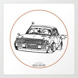 Crazy Car Art 0224 Art Print
