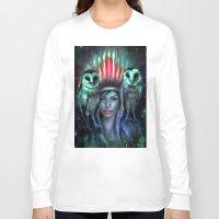 owls Long Sleeve T-shirts featuring Owls by Slaveika Aladjova