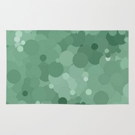 Grayed Jade Bubble Dot Color Accent  Rug