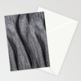 Striped linen textile Stationery Cards