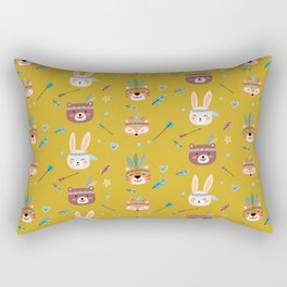 Woodland Yellow Rectangular Pillow