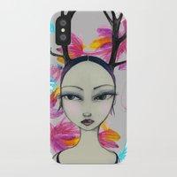 Fawn Woodland Gal iPhone X Slim Case