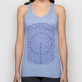 The Circling the Sun Blues Unisex Tank Top