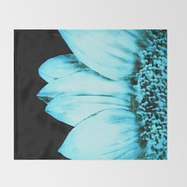 Blue Sunflower Throw Blanket