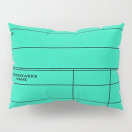 Library Card BSS 28 Turquoise Pillow Sham