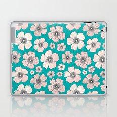 Pink Roses On Teal Laptop & iPad Skin