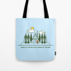 Tiny Forest by the Sea Tote Bag