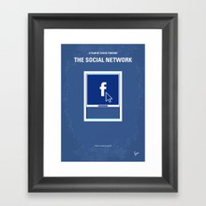 No779 My The Social Network minimal movie poster Framed Art Print