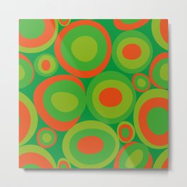 Bubbleroom in red and green Metal Print