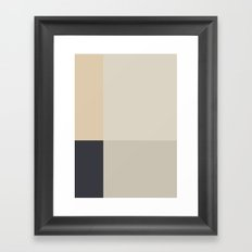 Minimal Abstract Beige Framed Art Print