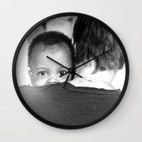 hug Wall Clocks featuring Hug by Dave Houldershaw