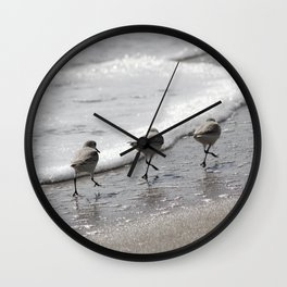 Sandpipers Birds on the Beach Wall Clock