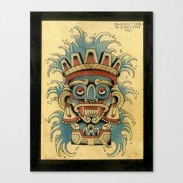 DIOSES AZTECAS: TLALOC Canvas Print