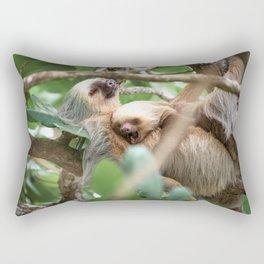 Yawning Baby Sloth - Cahuita Costa Rica Rectangular Pillow