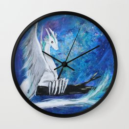 White Sky Dragon Wall Clock