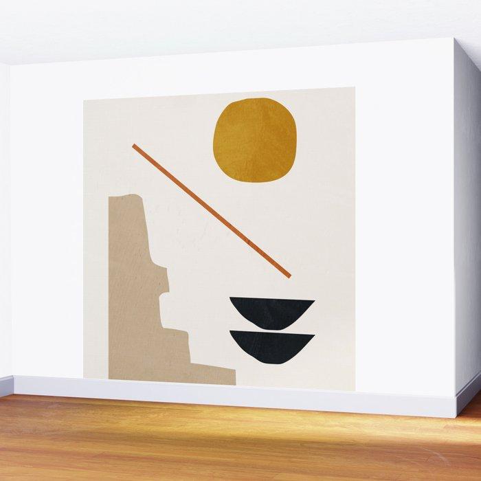 abstract minimal 6 Wall Mural