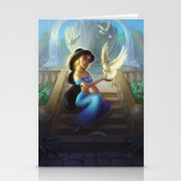 jasmine Stationery Cards featuring Jasmine by KATIE PAYNE