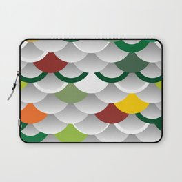 Seigaiha or seigainami literally means wave of the sea. abstract scales simple Nature background Laptop Sleeve