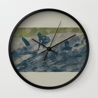 surf Wall Clocks featuring Surf by Last Call