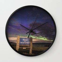 May Aurora at Old Garden Beach Wall Clock