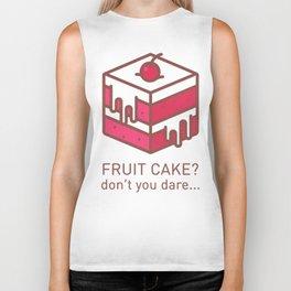 Fruitcake Sweaters Funny Lame Christmas Gift Meme Biker Tank