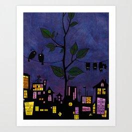 Birds & Bats Art Print