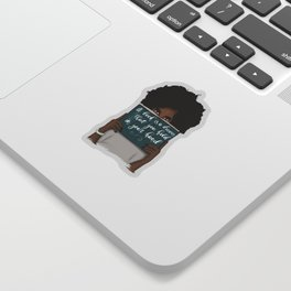 A Book Is A Dream That You Hold In Your Hand | African American Sticker