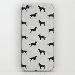 Black Labrador Retriever Dog Silhouette iPhone Skin