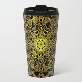 Golden Mandala Travel Mug