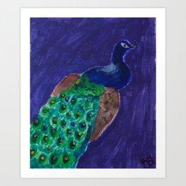 Peacockin' Art Print