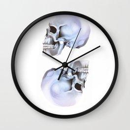 Twin Skulls Wall Clock